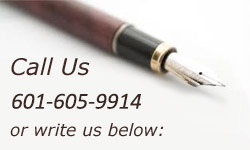 call us at 601-605-9914 or write us